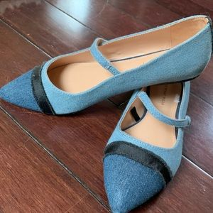 Who What Wear Denim Flats  NEW****